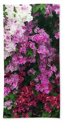 Bougainville Flowers In Hawaii Hand Towel