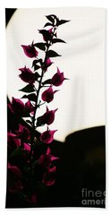 Bath Towel featuring the photograph Bougainvillea By Lamplight by Craig Wood