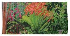 Bougainvillea Garden Bath Towel by Hilda and Jose Garrancho