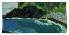 Bath Towel featuring the painting Boulder Beach by Paul McKey