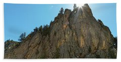 Hand Towel featuring the photograph Boulder Canyon Narrows Pinnacle by James BO Insogna