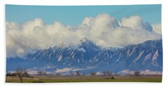 Hand Towel featuring the photograph Boulder Colorado Front Range Cloud Pile On by James BO Insogna