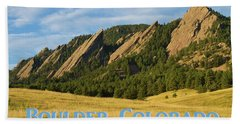 Bath Towel featuring the photograph Boulder Colorado Poster 1 by James BO Insogna