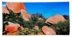 Boulders 7 In Abstract Hand Towel