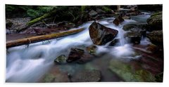 Boulders In Avalanche Creek Bath Towel