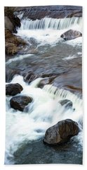 Boulders In The Rapids Bath Towel