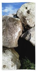 Hand Towel featuring the photograph Boulders by Rebecca Harman