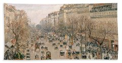 Boulevard Montmartre Afternoon Sun Bath Towel