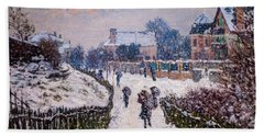 Boulevard Saint Denis Argenteuil In Winter Bath Towel