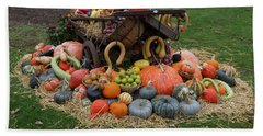 Bountiful Harvest L Bath Towel by Shirley Mitchell
