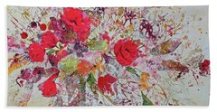 Hand Towel featuring the painting Bouquet Desjours by Joanne Smoley