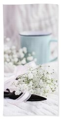 Bouquet Of Baby's Breath Bath Towel
