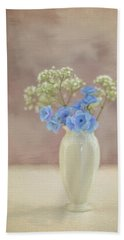 Bouquet Of Blues And Whites Hand Towel
