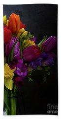 Flowers Dutch Style Hand Towel by Anastasy Yarmolovich