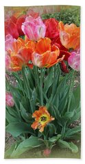 Bouquet Of Colorful Tulips Bath Towel