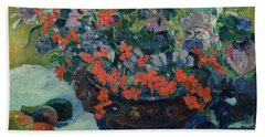Bouquet Of Flowers Hand Towel by Paul Gauguin