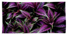 Bouquet Of Persian Shield Hand Towel