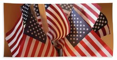 Bouquet Of Us Flags Hand Towel by Linda Phelps