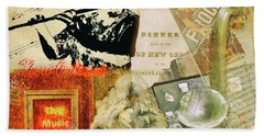 Bourbon Street Collage Bath Towel
