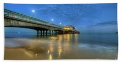 Bath Towel featuring the photograph Bournemouth Pier Blue Hour by Yhun Suarez