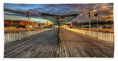 Bath Towel featuring the photograph Bournemouth Pier Sunrise 2.0 by Yhun Suarez