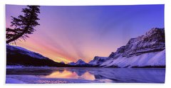Bow Lake And Pine Bath Towel