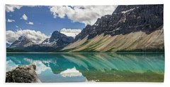 Hand Towel featuring the photograph Bow Lake by Christina Lihani