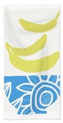 Bowl Of Bananas- Art By Linda Woods Hand Towel