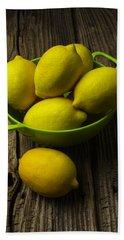 Bowl Of Lemons Hand Towel