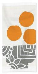 Bowl Of Oranges- Art By Linda Woods Bath Towel