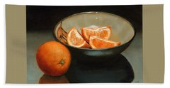Bowl Of Oranges Hand Towel
