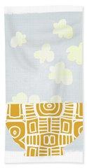 Bowl Of Popcorn- Art By Linda Woods Bath Towel