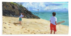 Bowling And Batting, Abersoch Hand Towel