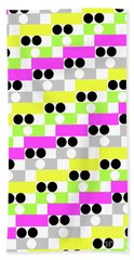 Boxes And Spots Hand Towel
