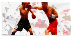 Hand Towel featuring the painting Boxing 113 by Movie Poster Prints