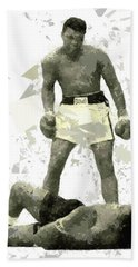 Bath Towel featuring the painting Boxing 115 by Movie Poster Prints