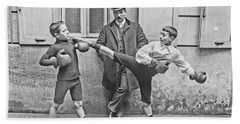 Boxing Under Eyes Of Master, 1904 Hand Towel