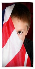 Boy And His Country Hand Towel