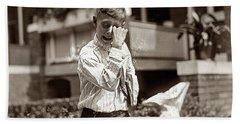 Boy Crying  Hand Towel