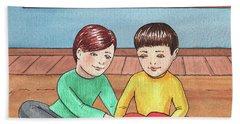 Boys Like Trains Hand Towel