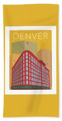 Denver Brown Palace/gold Bath Towel