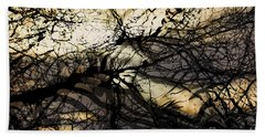 Branches Illuminated By Bright Sunshine, Double Exposed Image Hand Towel by Nick Biemans