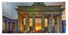 Brandenburg Gate Hand Towel by Pravine Chester