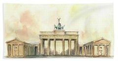 Brandenburger Tor, Berlin Hand Towel by Juan Bosco