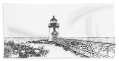 Brant Point Lighthouse Hand Towel