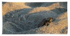 Brave Beginnings Sea Turtle Hatchling Delray Beach Florida Bath Towel