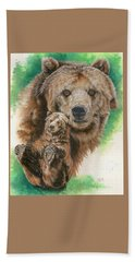 Bath Towel featuring the painting Brawny by Barbara Keith