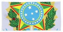Brazil Coat Of Arms Bath Towel by Movie Poster Prints