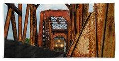 Brazos River Railroad Bridge Hand Towel