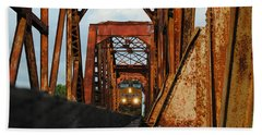 Brazos River Railroad Bridge Bath Towel